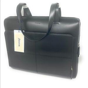 Filofax Leather Classic Laptop Briefcase